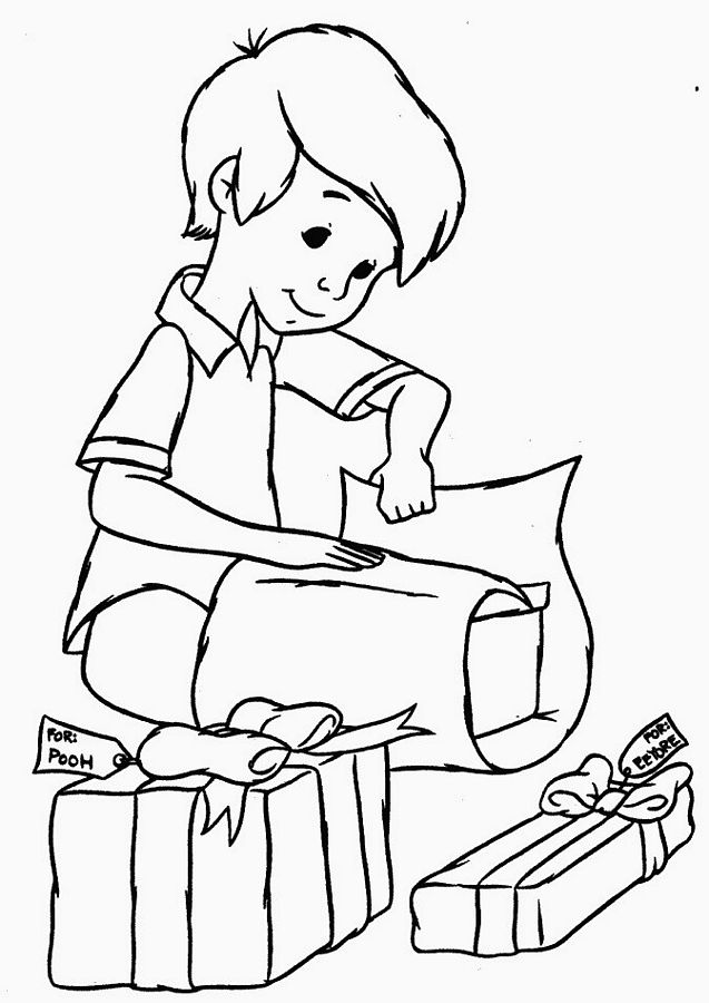 christmas coloring pages for boys | Children Themed Christmas Coloring Pages