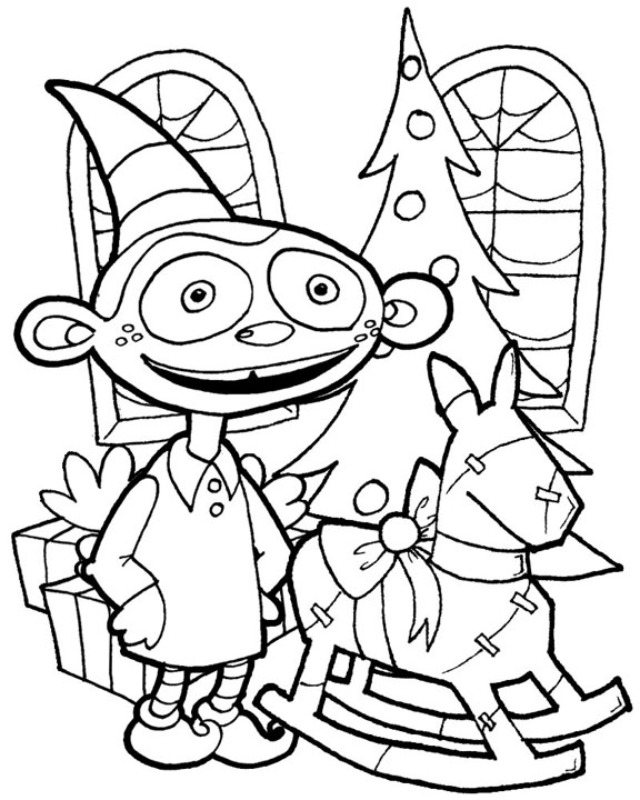 funny coloring pages. Funny Elf