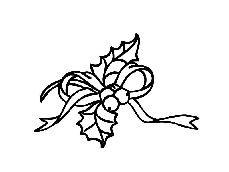 holly leaves coloring pages - photo#28