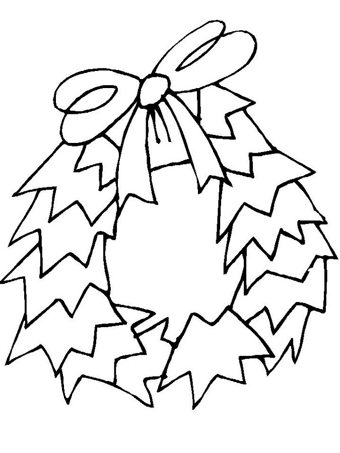 Free Christmas Holly Leaves Coloring Pages