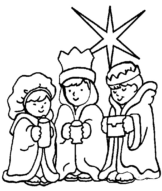 three wise kids - Religious Coloring Books