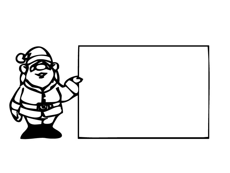 santa with board